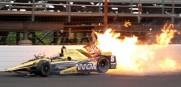 James Hinchcliffe is the latest driver to have a bad crash thus far at Indianapolis