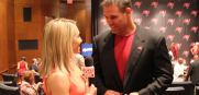 Bucs Insider Jenna Laine interviews Mike Alstott after his Ring of Honor ceremony