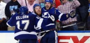 Nikita Kucherov scores the game winner in overtime for the Tampa Bay Lightning