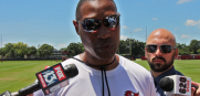 Leslie Frazier talks about the Bucs defense improvements this offseason