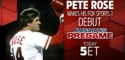 Pete Rose was a hit in his debut on Fox Sports 1